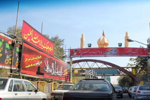 نصب 150 سازه در مشهد برای ارائه تبلیغات ایام محرم و صفر