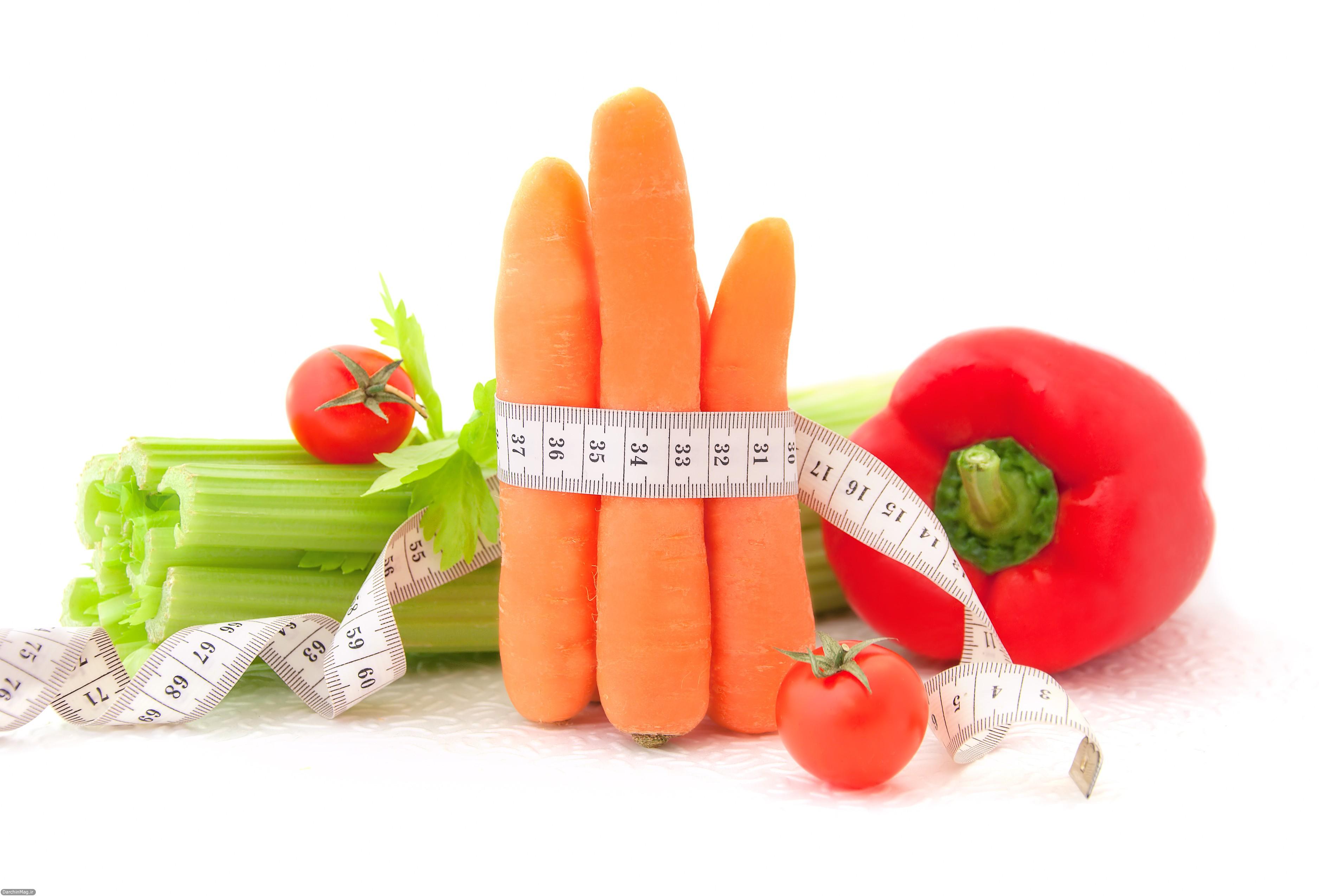 كم كردن وزن با تغذيه
