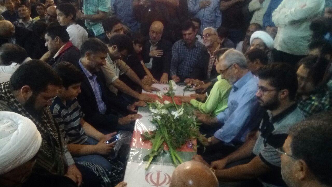 وداع با پیکر شهیدان دفاع مقدس و مدافع حرم در مشهد