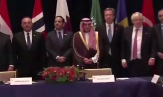 حرکت عجیب وزیر امور خارجه سعودی در نشست نیویورک+فیلم