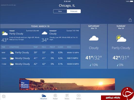 دانلود GO Weather Forecast & Widgets Premium v6.054 – بهترین برنامه هواشناسی