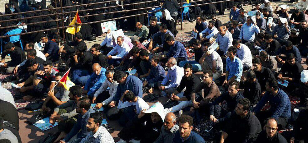 برگزاری اربعین شهید مدافع حرم مرتضی حسین پور با حضور سردار سلیمانی در لنگرود + تصاویر
