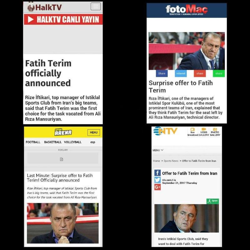 بازتاب رسانه های ترکیه به حضور فاتح تریم در استقلال