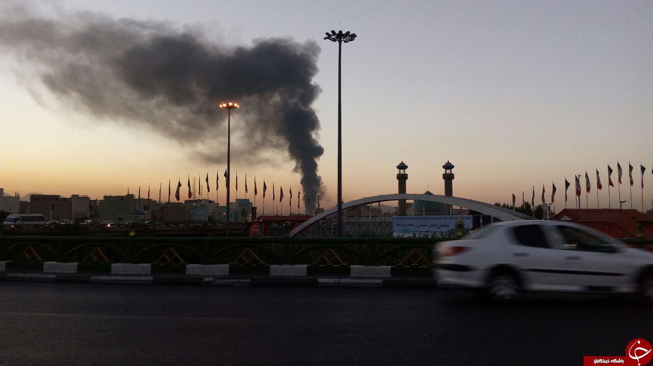 آتش سوزی انبار کالا در پایتخت + تصاویر
