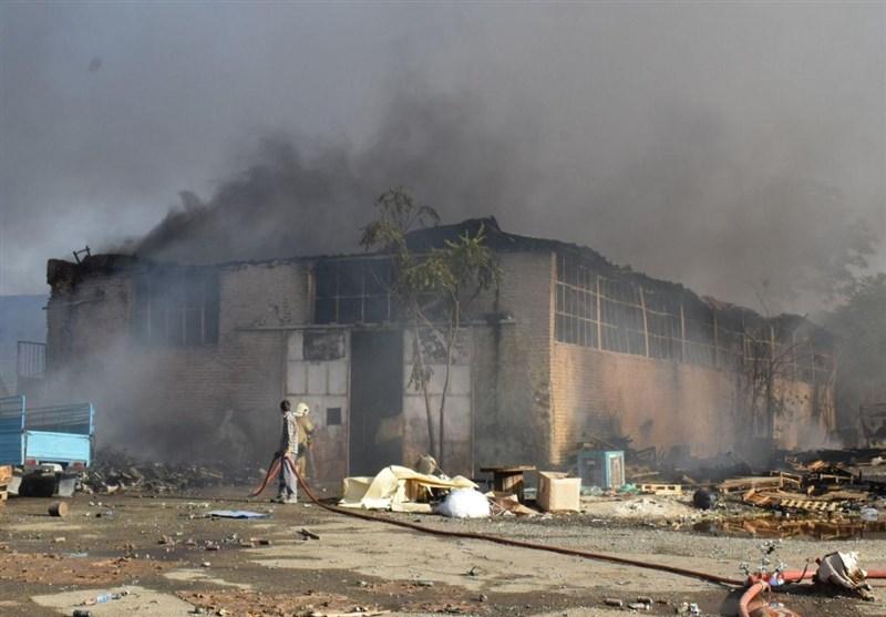 حریق گسترده دو انبار کالا در جنوب تهران/ حادثه مصدوم نداشت
