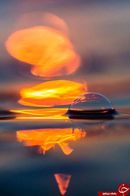 خلق تصاویر خارق العاده از ترکیب نور و آب+تصاویر