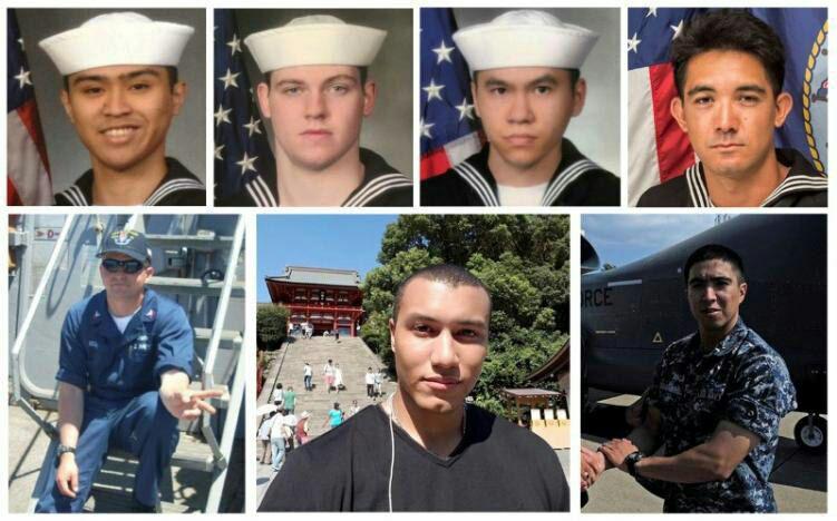 تأیید پیدا شدن اجساد ۱۰ ملوان آمریکایی ناپدید شده از سوی نیروی دریایی آمریکا