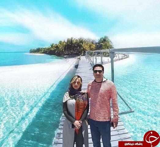 نیوشا ضیغمی و همسرش وسط دریا + عکس