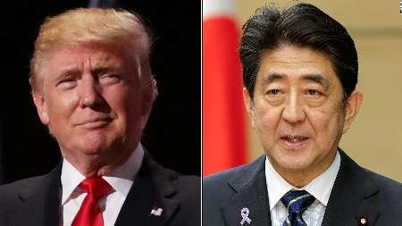 رایزنی تلفنی ترامپ و نخستوزیر ژاپن در خصوص آزمایش موشکی شب گذشته کرهشمالی