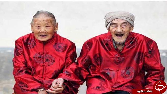 آقاي 101 ساله و خانم 100 ساله چيني