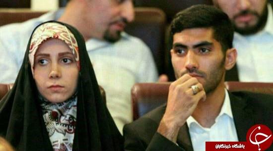 حجاب متفاوت همسر مدافع ملی پوش پرسپولیس + عکس