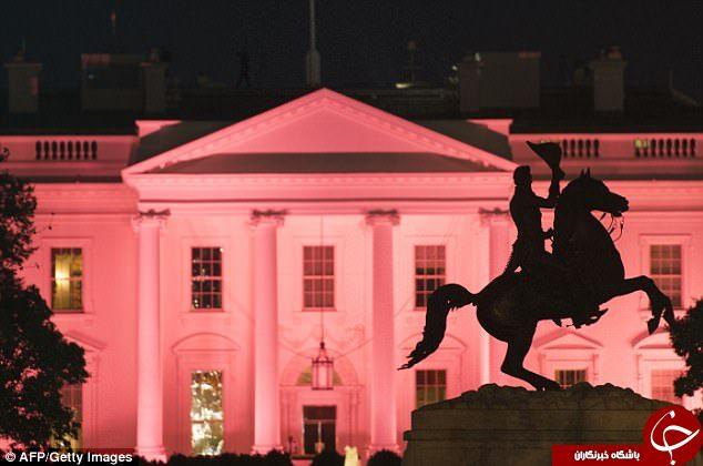 ملانیا ترامپ کاخ سفید را صورتی کرد!+ تصاویر