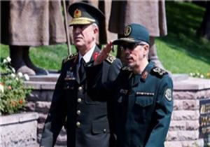 استقبال رسمی سرلشکر باقری از رئیس ستاد ارتش ترکیه/ آغاز گفتگوهای نظامی ایران و ترکیه در تهران