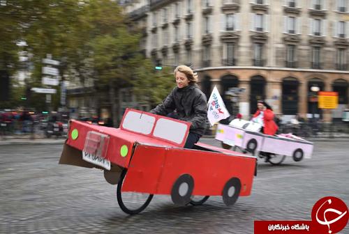 تصاویر روز: از روز بدون خودرو در پاریس تا سرنگونی پهپاد آمریکایی در صنعا