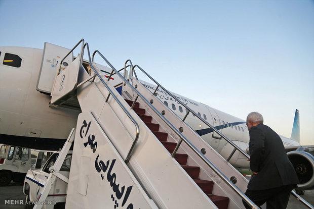 ظریف عمان را به مقصد قطر ترک کرد