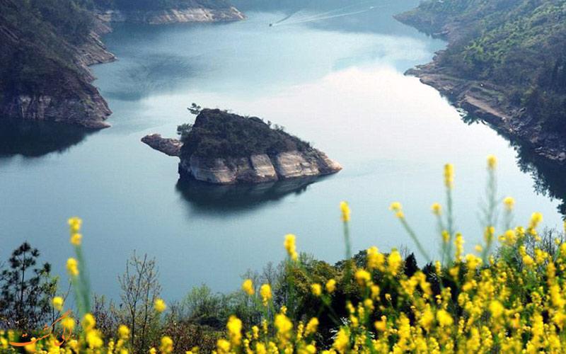 جزیره ای عجیب که فقط در فصل بهار ظاهر می شود+تصاویر