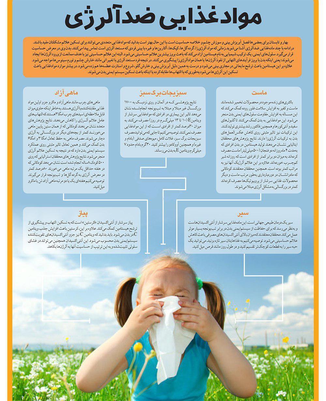 درمان فوری حساسیت با قویترین موادغذایی ضد آلرژی+ اینفوگرافی