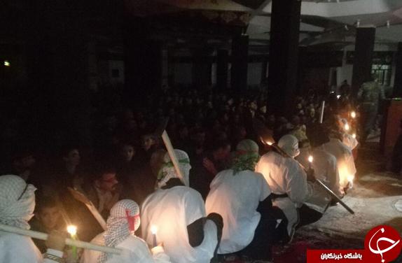 تصاویر آیین سومین شب شهادت شهدای کربلا در شیخ شبان