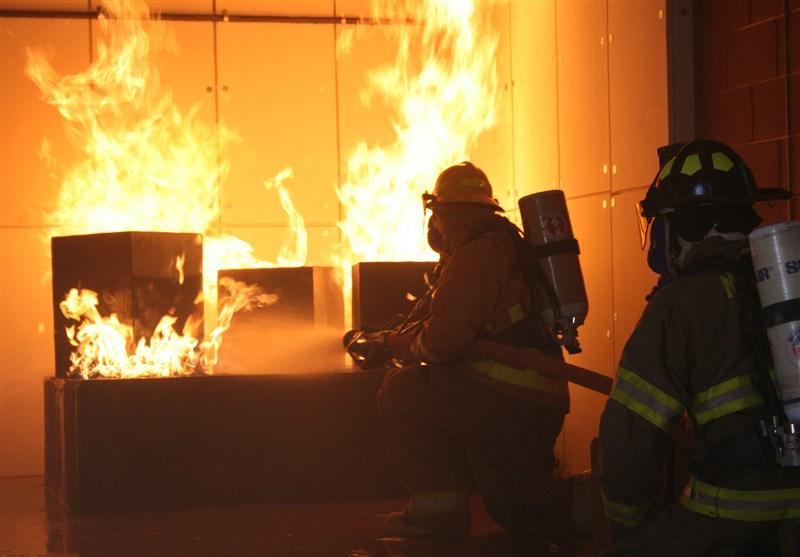 مهار آتشسوزی کارخانه حلاجی الیاف کاشان در یک ساعت
