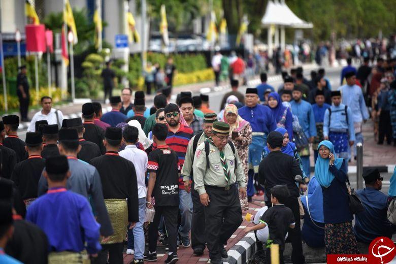جشن پنجاهمین سالگرد به قدرت رسیدن سلطان ثروتمند برونئی+ تصاویر