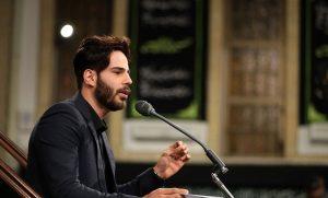 مداحی خواننده پاپ کشور در حسینیه امام خمینی (ره) + فیلم