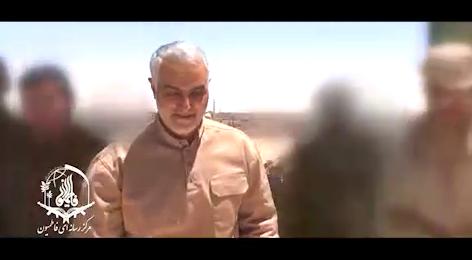 کلیپی دیدنی از حضور سردار سلیمانی در کنار رزمندگان افغانستانی