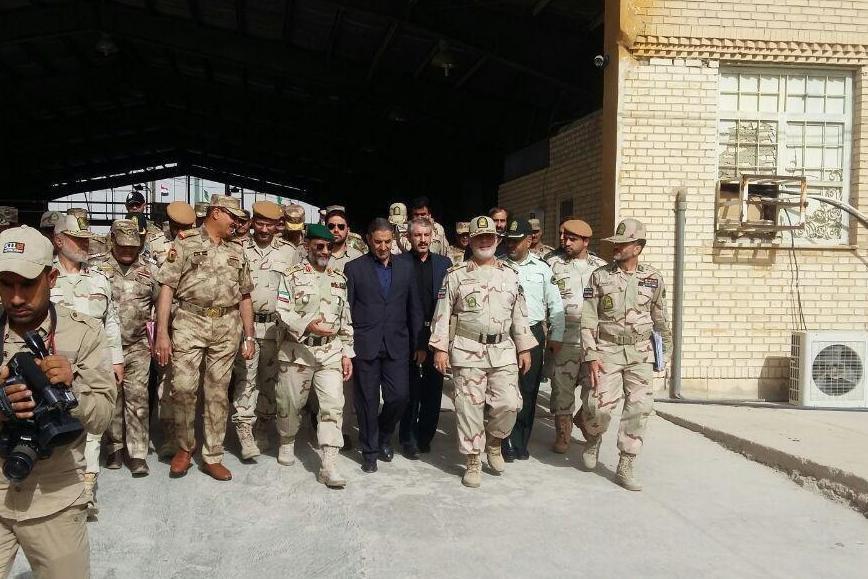 دیدار فرماندهان مرزبانی ایران و عراق در مرز مهران