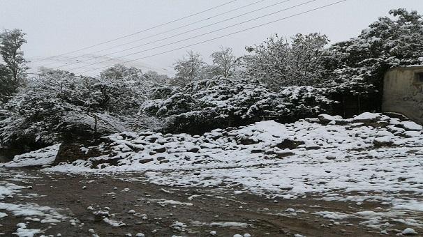 اولین برف پاییزی در زنجان