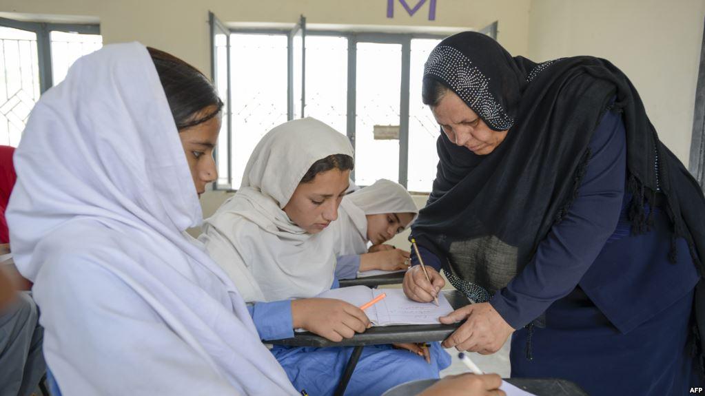 تجلیل از روز جهانی معلم در افغانستان