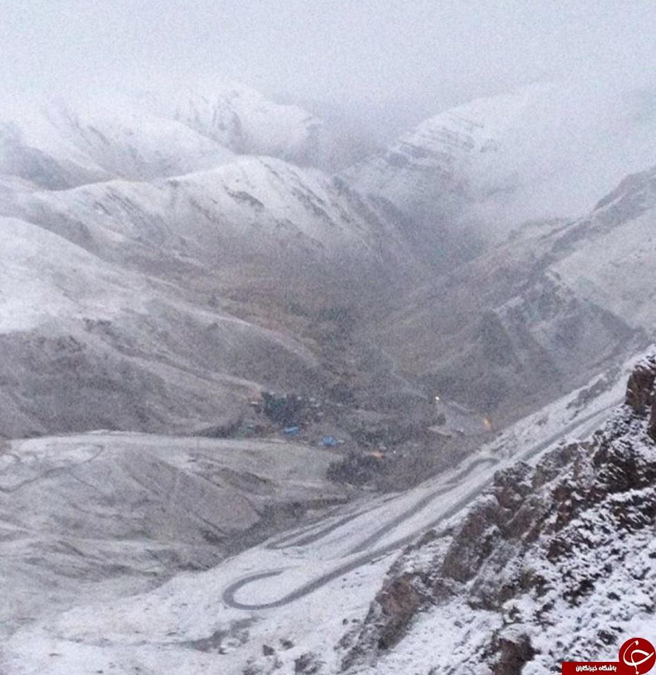 ارتفاعات دربندسر سفیدپوش شد + عکس