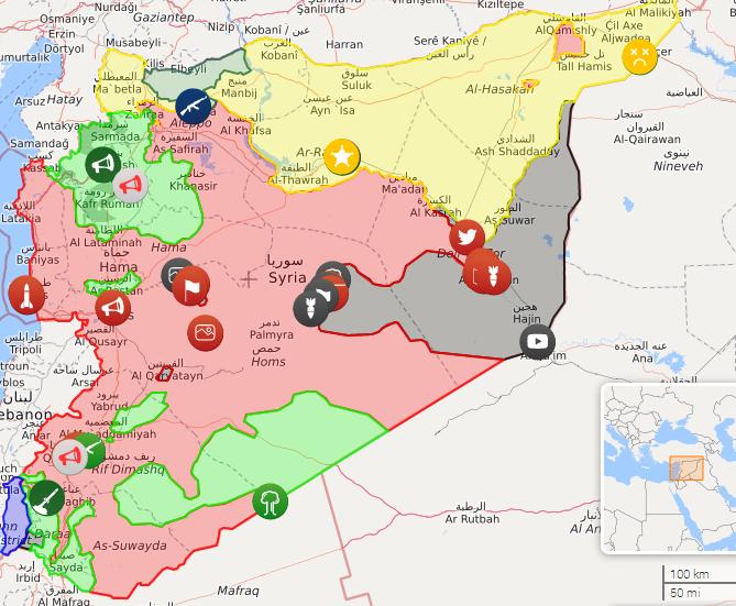 چند درصد خاک سوریه در کنترل ارتش سوریه و محور مقاومت است؟ + نقشه آنلاین ماه اکتبر