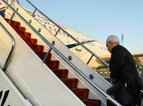 ظریف تهران را به مقصد عراق ترک کرد