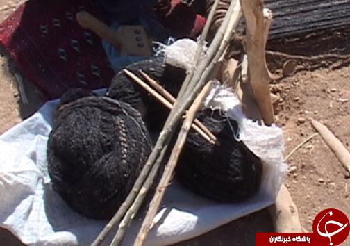 سیاه چادر؛ ازصنایع دستی زنان هنرمند عشایر لرستان + تصاویر
