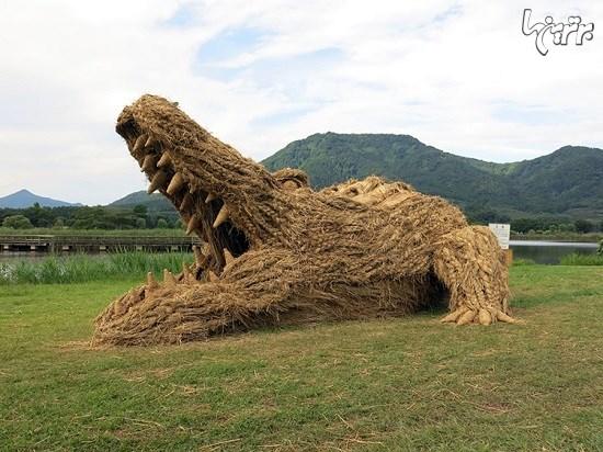 مجسمههای کاهی غول پیکر در فستیوال هنری ژاپن+تصاویر