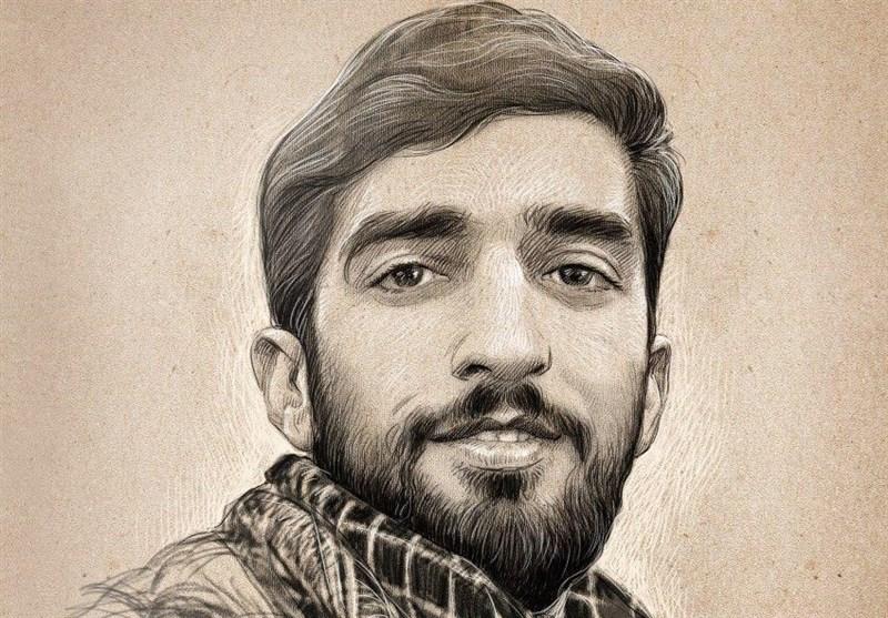عکس دیده نشده از شهید حججی در مراسم ختم یکی از مدافعان حرم