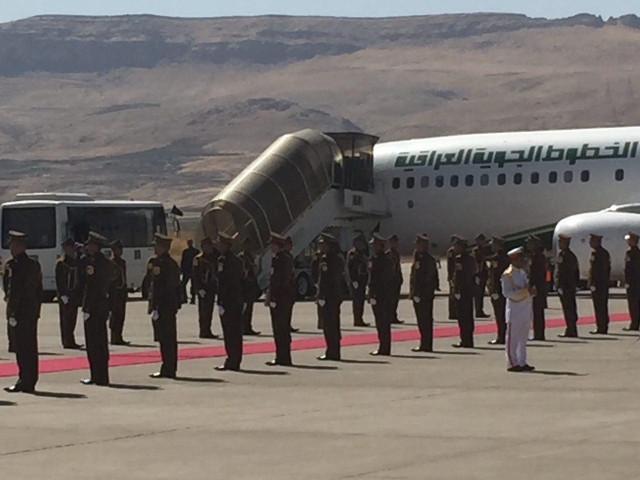 پیکر جلال طالبانی وارد سلیمانیه عراق شد