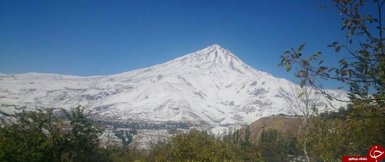 قله برفی دماوند از زاویه دوربین + تصاویر
