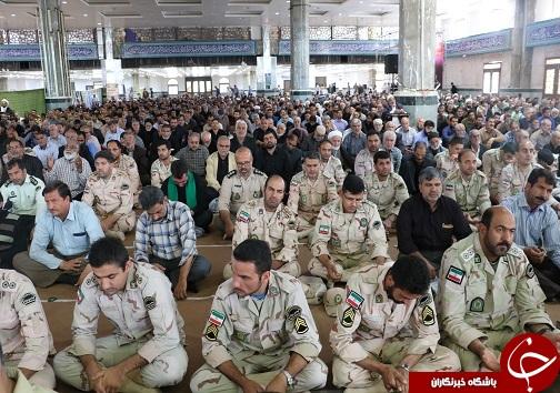 حضور نیروهای انتظامی در نماز جمعه بیرجند+تصاویر