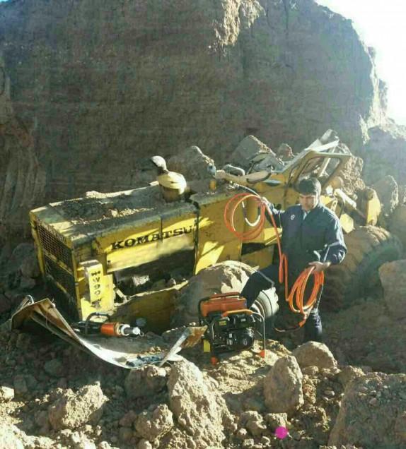 ریزش خاک راننده لودر را به کام مرگ فرستاد