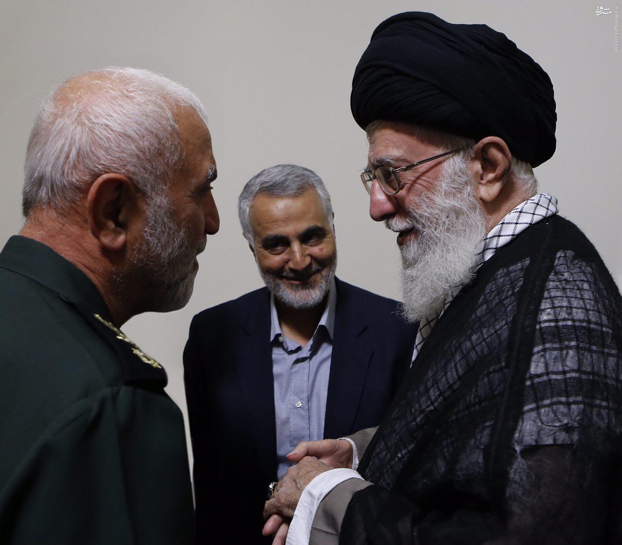 آخرین تصویر سردار همدانی در کنار حاج قاسم سلیمانی لحظاتی پیش از شهادت