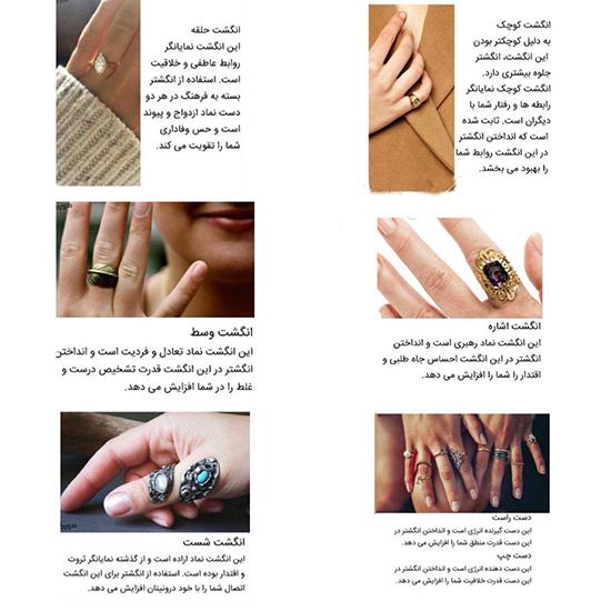 معنای انگشتر در هر انگشت +تصاویر