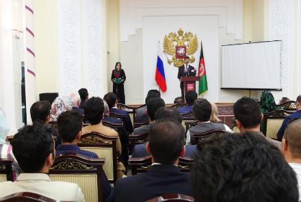 جوانان افغان در جشنواره جوانان و دانشجویان در روسیه شرکت میکنند