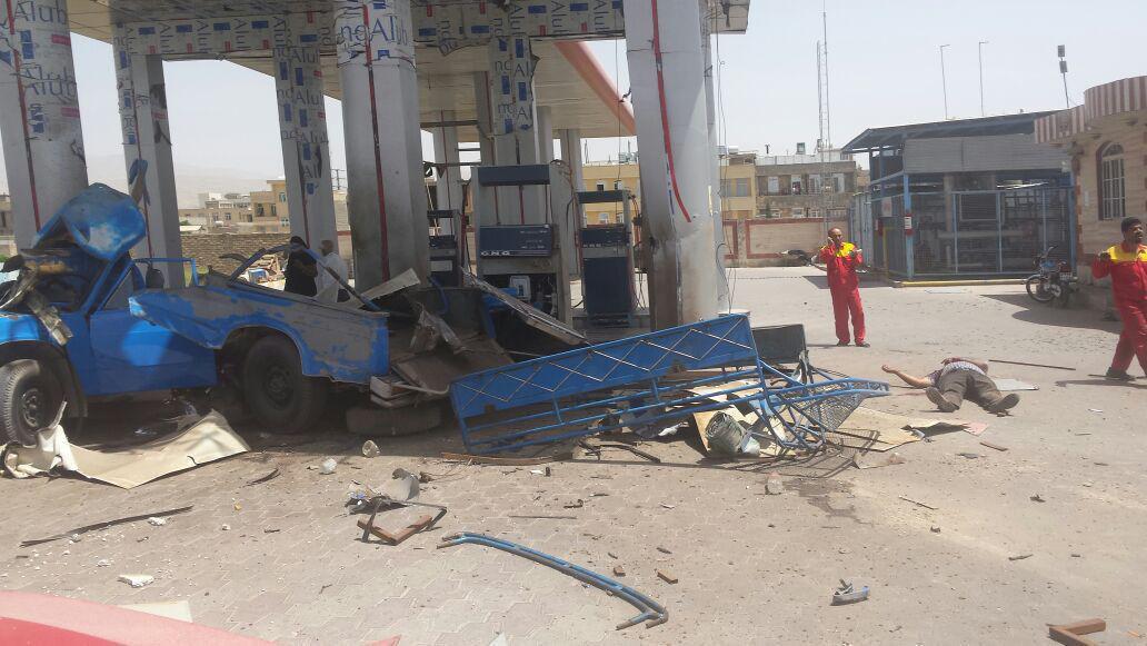 انفجار جایگاه سوخت CNG ایوانکی در استان سمنان