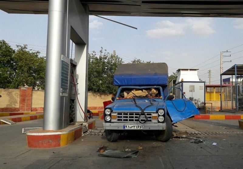 انفجار در پمپ گاز موچش کامیاران+تصویر