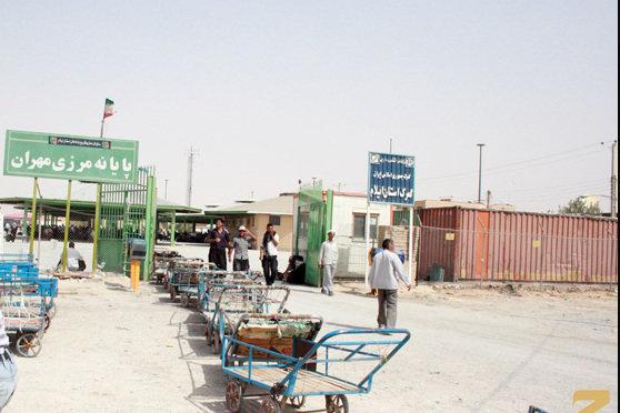 صادرات محصولات کشاورزی از مرز مهران به عراق