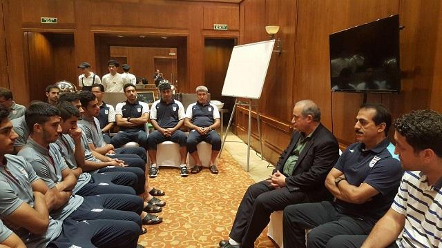 حضور رئیس فدراسیون در اردوی ایران در آستانه دیدار با ژرمن ها