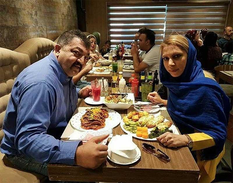 بادیگارد جنیفر لوپز و همسرش در رستوران +عکس