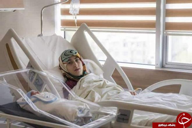 وضع حمل مادر و دختر سوری در یک لحظه+تصاویر