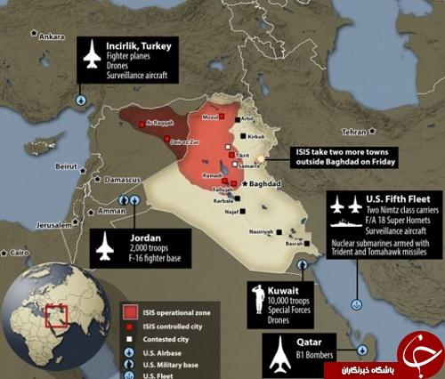کدام پایگاههای آمریکا در تیررس موشکهای ایرانی قرار دارند؟