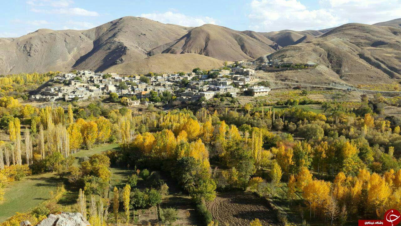 طبیعت پاییزی روستای بلوبین در قاب تصویر